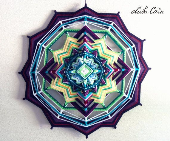 Mandala Ojo de dios / God's eye Colorful Life 12 by LubaCainArt, $240.00