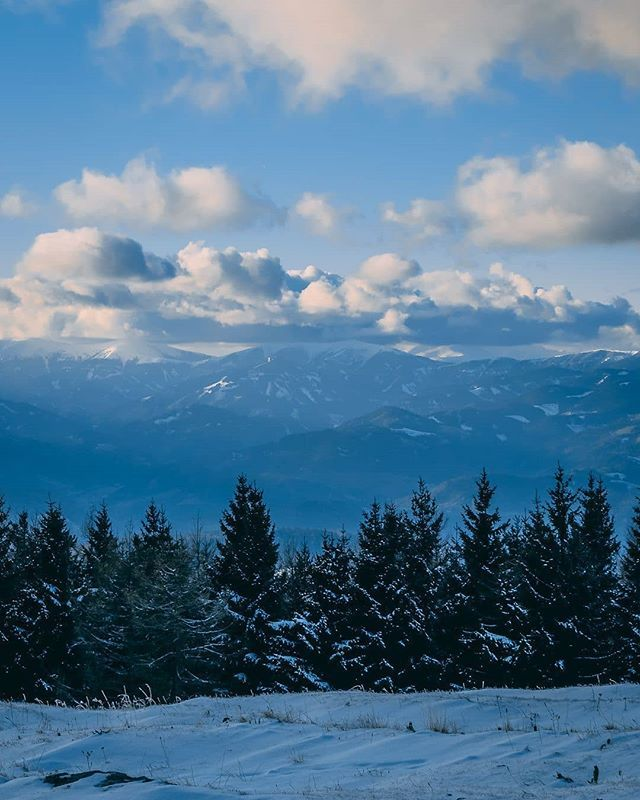 Alpine View . . .  #nature #beauty #beautiful #tree #pretty #landscape #winter #season #cold #snow #ice #snowflakes #photooftheday #smile #picoftheday #pictureoftheday #photography #photo #photos #picture #nikon #d5300 #forest #clouds #sky #cloudporn #snowcaps