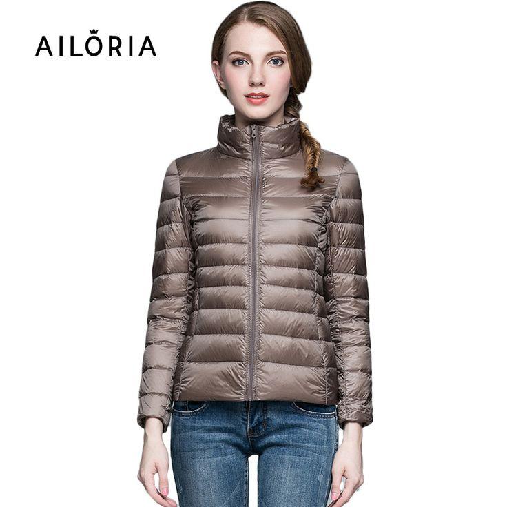 2017トップ品質のブランドレディースショート冬秋のオーバーコート女性ウルトラライト90%ホワイトダックダウンコートでバッグレディースジャケット