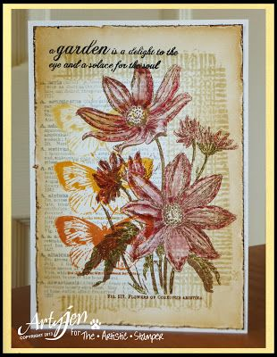 The Artistic Stamper Creative Team Blog: Flower Card by Sioux Jenneys