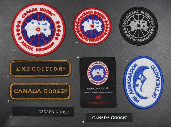 Canada Goose Patch Logo Patch Fashion Embroidered Patch Jacket Patch Cool Patch Custom Patch Iron On Patch Sew On P Custom Patches Patches Fashion Cool Patches