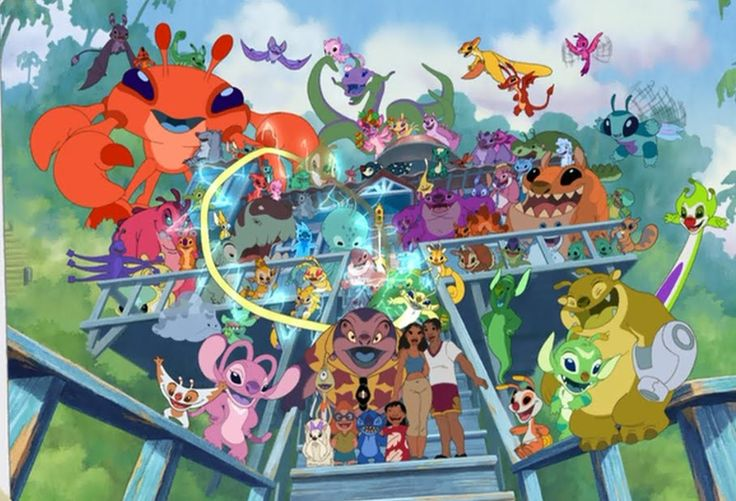 "Lilo's and Stitch's family from ""Leroy and Stitch"". Setting: Kauai, Hawaii and outer-space, after the events of the series and other movies."