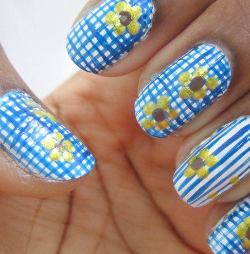 Nägel zu haben: Gingham Nail Designs