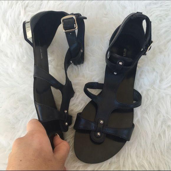STELLA LUNA SZ 7.5 SANDALS SHOES METAL ACCENT As seen Stella Luna Shoes