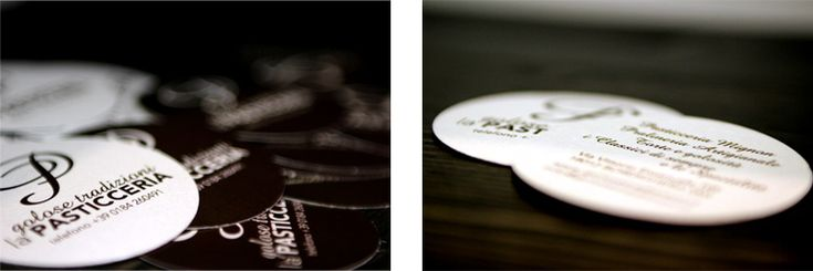 """business card for the pastry """"Golose tradizioni"""" by CREA OFFICINA"""