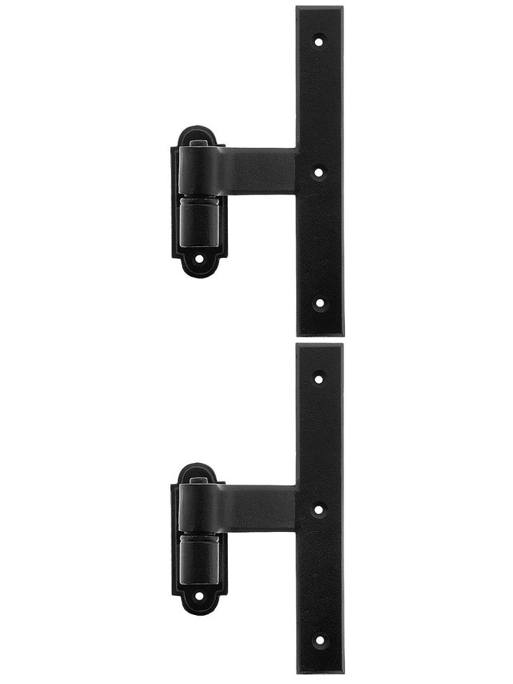 """Pair of Vertical or Middle Strap Shutter Hinges With 1 1/2"""" Offset"""