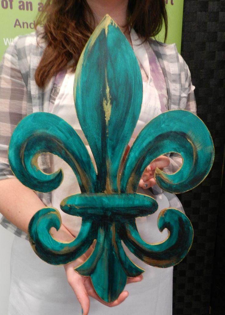 Fleur-de-Lis Door Hanger from a HOBNOB class