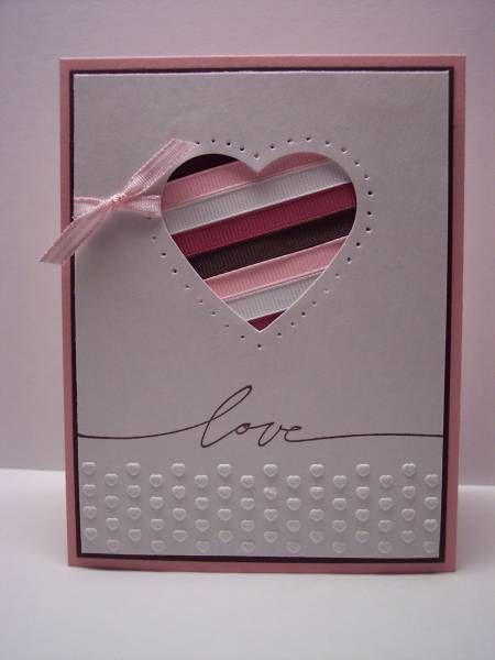 Simply Sweet Ribbon Die Cut Heart Card...