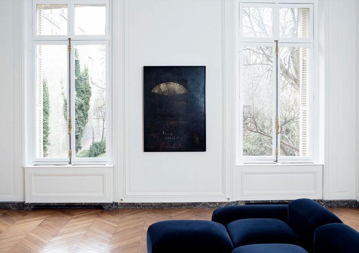 d coration int rieure d un appartement situ rue du faubourg st honor cr dit photos nicolas. Black Bedroom Furniture Sets. Home Design Ideas