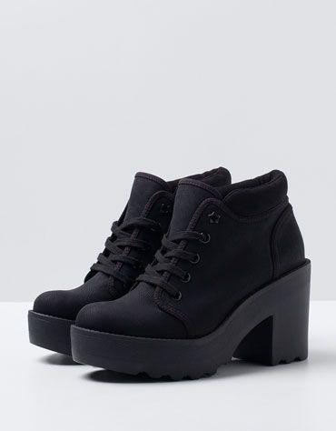 BSK Track Heeled Ankle Boots - Woman - Bershka Turkey