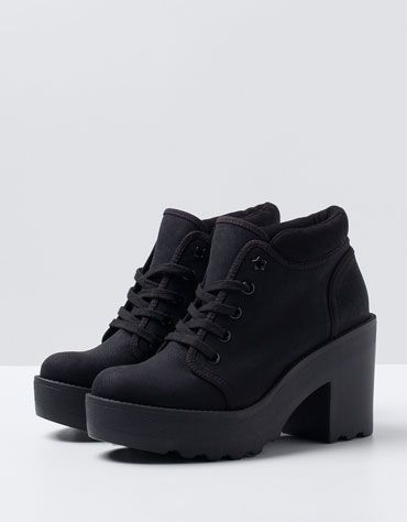 BSK Track Heeled Ankle Boots - Woman - Bershka Turkey