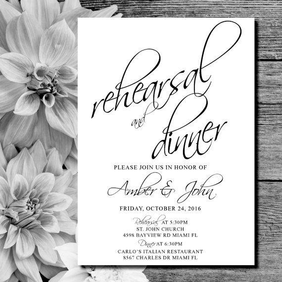 Best 25+ Rehearsal dinner invitations ideas on Pinterest - printable dinner invitations