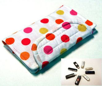 Flash Drive Storage | Sewing Pattern | YouCanMakeThis.com