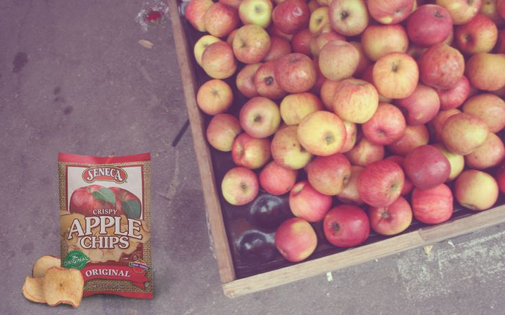 Seneca Apple Chips are made with real apples. Find them in the fresh food / produce aisle at your grocery store.