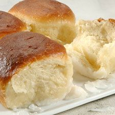 These coconut buns are soooo good!  I could eat the pudding-topping on its own.  I have made them lots of times, most recently with Easter dinner.  They go great with ham!