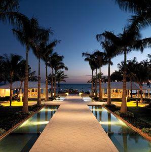 Sunset view at Casa Marina, A Waldorf Astoria Resort.