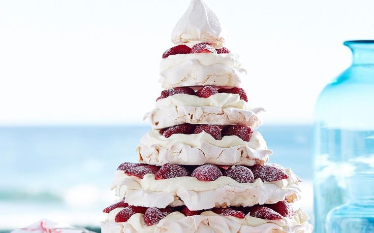 Julie Goodwin's meringue christmas tree recipe - By Australian Women's Weekly, Get creative this festive season with Julie Goodwin's marvelous meringue Christmas tree! Tastes as good as it looks! The perfect dessert for Christmas Day.