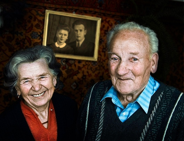 An old Polish couple - Open winner, smilePhotograph: Piotr Stasiuk, Poland/Sony World Photography Awards 2012