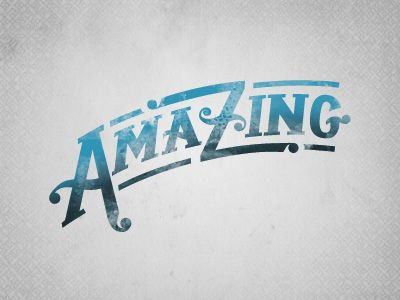 Amazing  by Matt BraunDesign Inspiration, Amazing Inspiration, Matte Braun, Typography Design, Types Design, Graphics Design, Illustration Letters, Typography Artworks, Design Posters