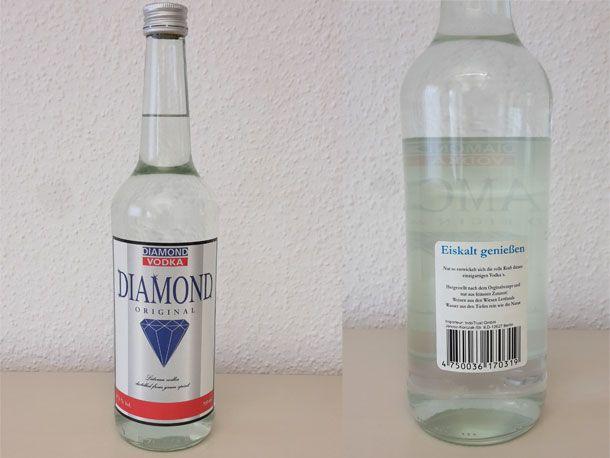 """Vorsicht vor dem Wodka """"Vodka Diamond"""" - der gepanschte Schnaps enthält viel giftiges Methanol und kann blind machen oder sogar tödlich"""