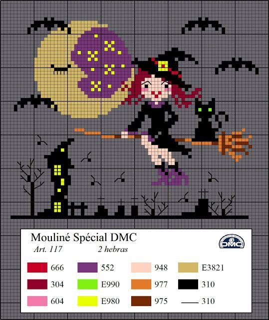 El blog de Dmc, diagrams for CROCHET cross stitch knitting, site in Spanish but charts are amazing!