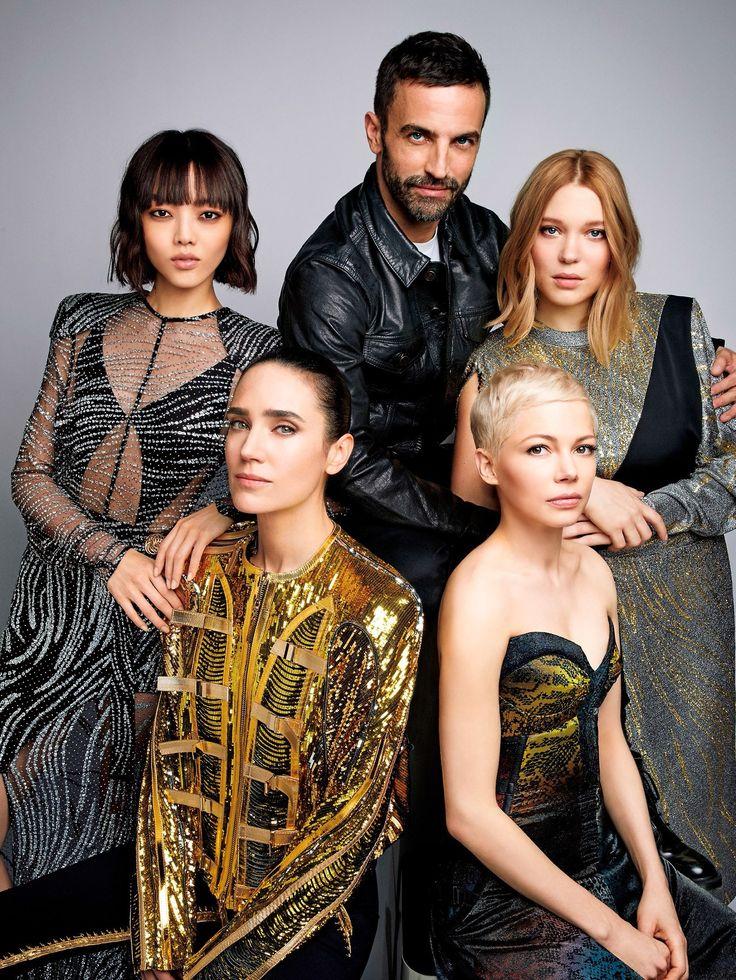 Rila Fukshima, Jennifer Connelly, Nicolas Ghesquiere, Lea Seydoux & Michelle Williams photographed by Patrick Demarchelier for Vogue Japan June 2017