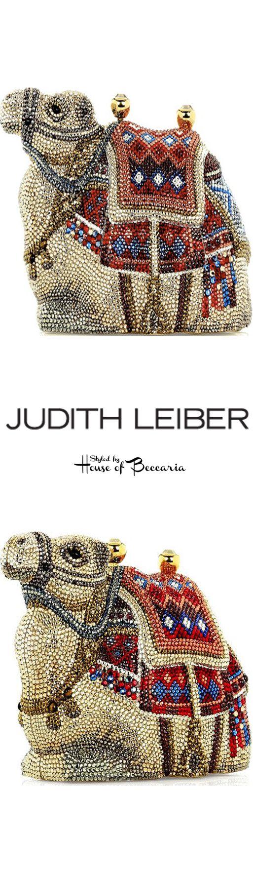~Judith Leiber Gobi Crystal - Embellished Camel Clutch   House of Beccaria