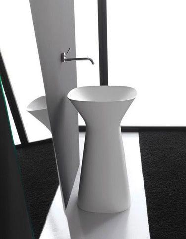 Dale un toque original a tu cuarto de baño con este diferente lavabo con forma de pedestal. #diseño #arquitectura #interiorismo http://www.neoceramica.es/