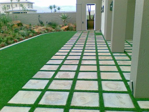 15 best grass between pavers images on Pinterest ... on Backyard Pavers And Grass Ideas id=92836