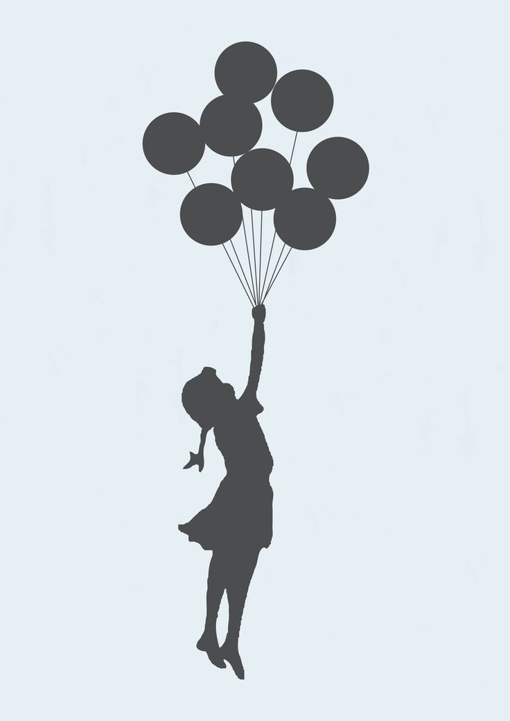 Poster Flying Girl banksy   Dependure   Elo7