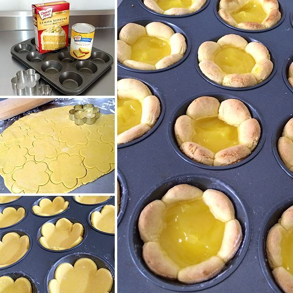 Yellow Cake Mix With Lemon Curd Filling