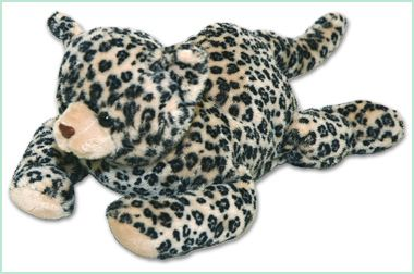 WARM BUDDY LEOPARD. This leopard is absolutley adorable, and created from the softest fur.   Every Warm Buddy plush animal comes with a removeable inner pack that can be warmed in the microwave or cooled in the freezer as desired.  #warmbuddy #sendateddy #leopard  #toy #gift