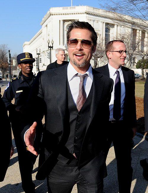 Brad Pitt visits Capitol Hill