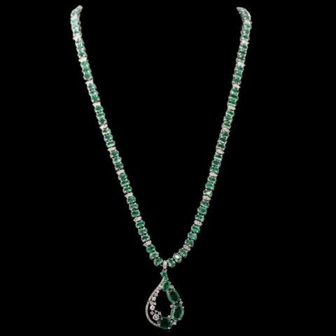 http://rubies.work/0972-sapphire-pin-brooch/ One Of A Kind 14K White Gold Emerald Diamond Necklace $ 18,900.00 $ 26,990.00