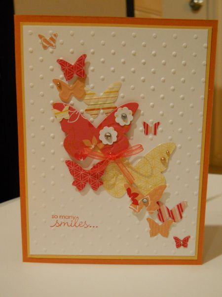 Butterfly embosslit! such a happy card who wouldn't want to get this?