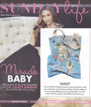 """Our """"Stitch Your Journey"""" Bag featured in Sunday Life"""