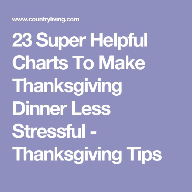23 Super Helpful Charts To Make Thanksgiving Dinner Less Stressful - Thanksgiving Tips