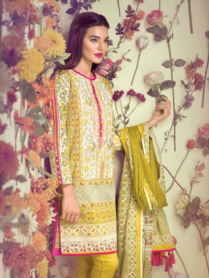 Ethnic by Outfitter Lawn FESTIVE' 15 collection for Girls
