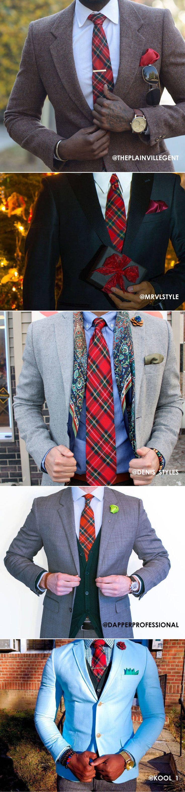 Who Wore It Best - Five Looks With The Same Tartan Plaid Tie.