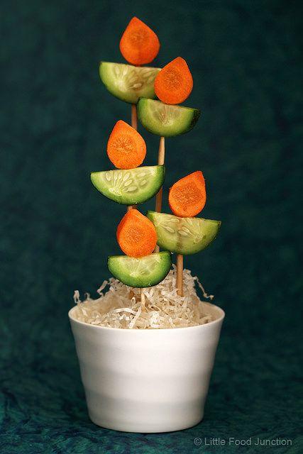 Happy Diwali- Diyas (veggie clay lamps) on sticks !!