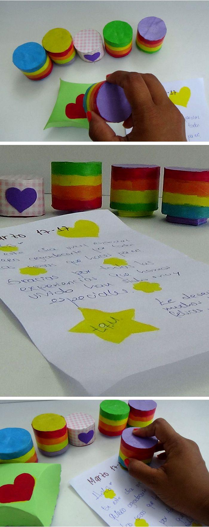 Te enseño a hacer sellos con tubos de papel higiénico para decorar y personalizar cartas, tarjetas, cajas de regalo, entre otros. Son muy lindos, rápidos y económicos para hacer.