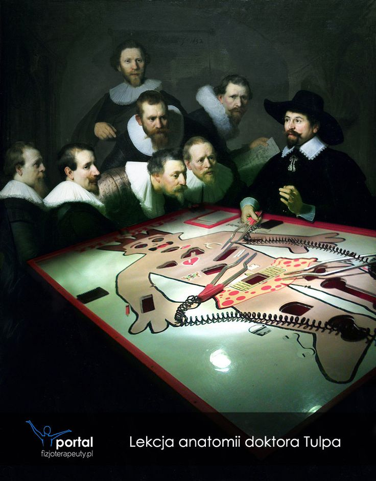 Lekcja anatomii doktora Tulpa http://fizjoterapeuty.pl/ #humor #medycyna #sztuka #historia #fizjoterapia