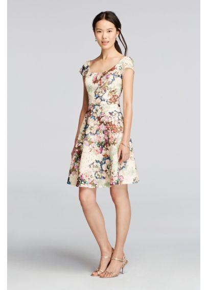 Floral Short Bridesmaid Dresses
