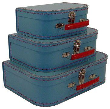 Cargo Traveler Mini Suitcases, Set of 3, Soft Blue