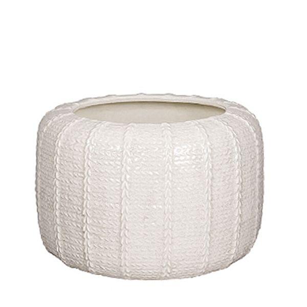 Broste Copenhagen, Stor Knit Vase, Creme