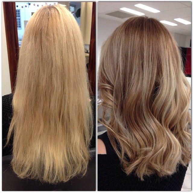 Isabelle gjorde en riktig makeover hos @so_fian i veckan. Håret var torrt och slitet efter sommaren och blekningar, så det slitna klipptes av en bit och färgades in i en schysst naturlig sombre. #wella #wellahair #wellalife #wellacolorssverige #wellaprofessionals #frisör #frisörsalong #freelights #hår #hårfärg #hårvård #hairdresser #hairstylist  #karlstad
