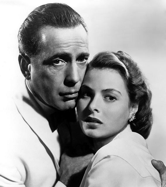 Humphrey Bogart & Ingrid Bergman - Casablanca (1942).