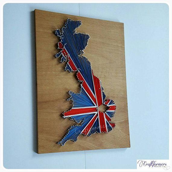 Personalised Gift UK String Art Union Jack British by Craftformers