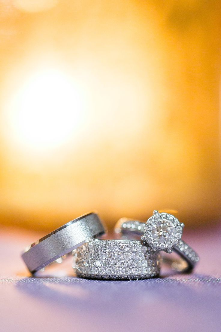 Wedding Rings - Gorgeous! See the wedding on #smp here: www.StyleMePretty... Ste...
