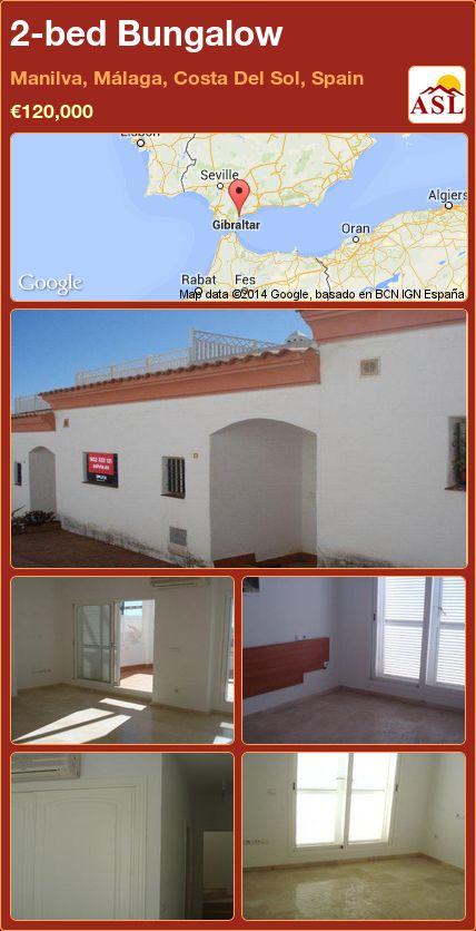 2-bed Bungalow in Manilva, Málaga, Costa Del Sol, Spain ►€120,000 #PropertyForSaleInSpain
